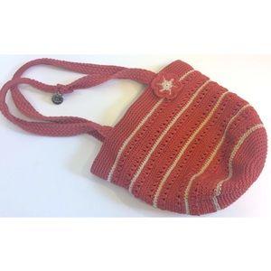 The Sak crochet shoulder bag purse with flower